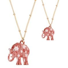 Kohl's Cares Lauren Conrad Gold Tone Simulated Crystal Elephant Pendant $5-8