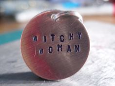Witchy Women, Halloween Charm, Halloween Party Favor, Halloween Wine Charm, Witchy, Women, Witch, Custom Charm, Personalized Halloween Gift by JuniperTulipJewelry on Etsy
