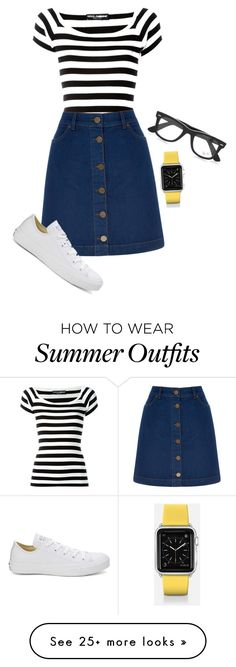 """Casual summer outfit"" by veera-anniina on Polyvore featuring Dolce&Gabbana, Oasis, Casetify, Ray-Ban and Converse"