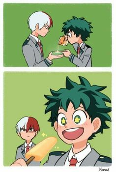 This is adorable! Todoroki looks so done!