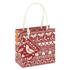 Buy Emma Bridgewater Joy Gift Bag, Red, Small online at John Lewis Christmas Crackers, Emma Bridgewater, John Lewis, Reusable Tote Bags, Joy, Gifts, Stuff To Buy, Surface, Christmas Biscuits