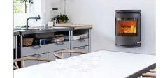 Morsø 7670   Varmefag - spesialister på peiser og ovner. Ovens, Fireplaces, Kitchen Island, Home Decor, Santiago De Compostela, Wood Stoves, Fireplace Set, Island Kitchen, Fire Places