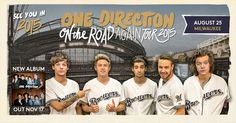 "We are excited to announce that @1DOfficial's ""On The Road Again"" Tour 2015 is coming to Milwaukee on August 25. Tickets go on sale Saturday, November 1 at brewers.com/onedirection. #OntheRoadAgain1D"