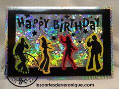 "Carte 3D artisanale années 80 ""Happy Birthday"" / 3D handmade 80s card ""Happy birthay"""