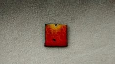Fire Torched Enamel Piece by EnamoredwithEnamel on Etsy, $8.00