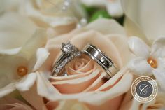 Solitaire engagement ring with silver wedding bands | Classic Digital Photography | villasiena.cc