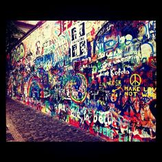John Lennon Wall, Prague, CR