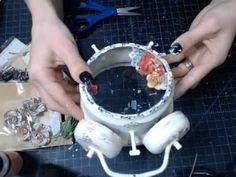 Tim Holtz Altered Clock Tutorial - Prima Lyric collection - YouTube