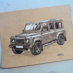 This is the car I was sketching earlier I finally had the time to finish it. // Voici l'auto que je dessinais il y a quelques jours j'ai enfin eu le temps de terminer. #car #cardesign #cardrawing #drawing #sketch #sketching #landrover #landroverdefender #kahndesign #perspective #noruler #markers #sketchbook #art #illustration #raphrbd #montreal by raphrbd This is the car I was sketching earlier I finally had the time to finish it. // Voici l'auto que je dessinais il y a quelques jours j'ai…