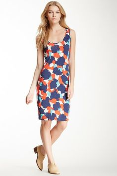 Three Dots Printed Tank Dress by Non Specific on @HauteLook