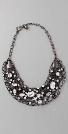 kenneth jay lane chain bib necklace