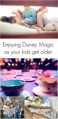Enjoying the Disney Magic as your kids get older: I love that the fun doesn't end just because they grow up! Great tips for families with mixed ages of kids.