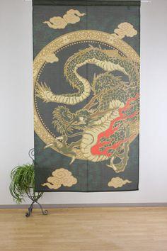 Japanese Noren Curtain Dragon 14 244 New | eBay