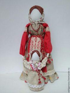 Купить Ведучка - ярко-красный, кукла из ткани, тряпичная кукла, славянский оберег, русский стиль