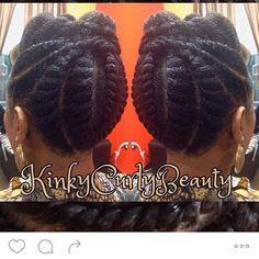 Instagram media kinkycurlybeauty - Keisa's #JumboFlatTwists My very first infamous #KCBUpdo❤️ #naturalhairstylist #birminghamstylist #bhamstylist