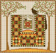 gazette94 autumn free pattern cross stitch pattern of a crow perching ...