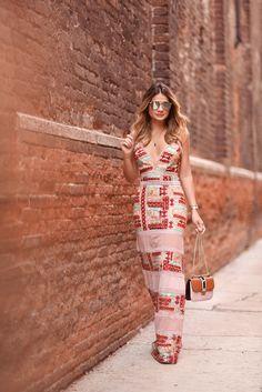 Vestido Longo Estampado | Iorane | Thássia Naves
