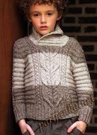 Картинки по запросу свитер спицами для мальчика