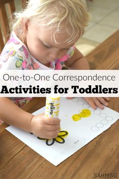 One-to-one correspondence activities for toddlers. Teach toddlers to count and identify while strengthening their fine motor skills. Counting Activities, Toddler Learning Activities, Craft Activities For Kids, Educational Activities, Preschool At Home, Toddler Preschool, Toddler Fun, Toddler Language Development, Home Schooling