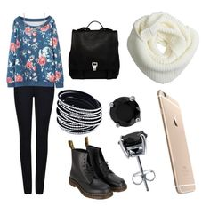 """""""Girls coffee date"""" by hershmarina on Polyvore featuring Giorgio Armani, Dr. Martens, BERRICLE and Proenza Schouler"""
