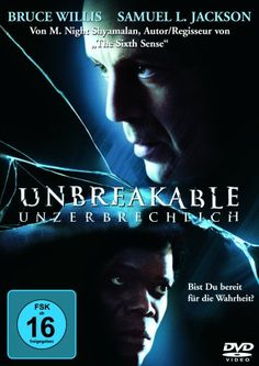 Unbreakable - Unzerbrechlich * IMDb Rating: 7,2 (164.451) * 2000 USA * Darsteller: Bruce Willis, Samuel L. Jackson, Robin Wright,