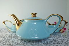 Pearl China Co. 1940s Teapot Sugar and Creamer by NostalgicRose, $70.00