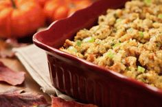 Pear Toasted Walnut & Blue Cheese Stuffing from Rudi's Gluten-Free Bakery.  Head to www.CeliacCentral.org/PantryPrep for tips from NFCA & Rudi's for preparing for a gluten-free holiday season.