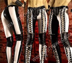 Black & White Lace up Pants http://mylittlehalo.com