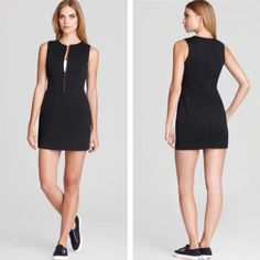 NWT Theory Zip Front Cocktail Dress Brand new, with tags dress from Theory. Great a night out. The dress is in perfect shape, no defects at all. It is a size 2 and the forgiving fabric hugs in all the right places. The dress is 33 inches from shoulder to hem. Fits true to size. Theory Dresses