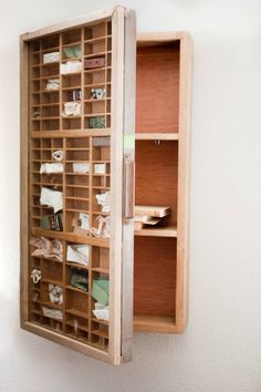 Printers drawer (covered with glass) as cabinet door