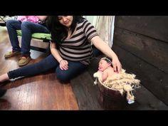 Newborn Photography: Posing in a Bucket