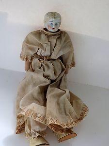 Antique Blond Germany Bisque Head Body Dress VGC | eBay