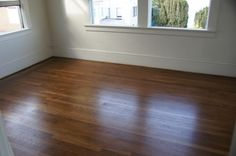 Our new hardwood floors! Duraseal Provincial stain