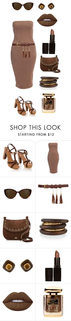 """""""Untitled #1124"""" by leopardlover111 ❤ liked on Polyvore featuring Linda Farrow, Kate Spade, NEST Jewelry, Trianon, Laura Mercier, Lime Crime and Terry de Gunzburg"""