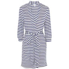 Eberjey Maritime striped stretch-jersey robe (165 BRL) ❤ liked on Polyvore  featuring 0b1da033f