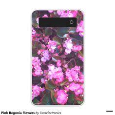 Pink Begonia Flowers Power Bank