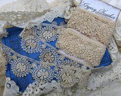 Antique Handmade Needle Lace Yardage...Vintage by GypsyFeather
