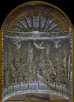 Roman mosaic niche, 1 — 100 CE: Early Roman, from Campania. Source: Fitzmuseum.