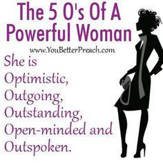 5 O's of powerful women