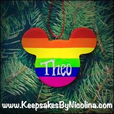 One of a kind handcrafted and personalized Christmas Ornaments & Magnets for your holiday and FE gift needs, made by Keepsakes by Nicolina! Mickey Mouse Christmas Ornament, Personalized Christmas Ornaments, Keepsakes, Personalized Gifts, Rainbow, Holiday Decor, Custom Christmas Ornaments, Souvenirs, Rain Bow