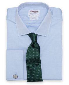 Regular Fit Blue Pinpoint Oxford Shirt