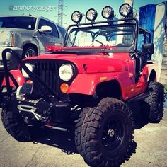 """by @Anthony Steger """"Dad I just love to give you shit. Our 76 #cj5 #jeep #arblockers #alpine #kclighting #alpine @Anthony Steger"""" #jeepbeef #Padgram"""