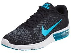 differently c0c29 af647 Air Max Sequent 2 Black Chlorine Blue Anthracite Cool Grey Mens Running  Shoes Size 11     For more information, visit image link.