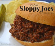 Rich and tasty Sloppy Joe's, also known in our house as kidwiches. This simple recipe can be made in less than 30 minutes which is a big plus for busy moms. Another big plus is that kids love the taste and they especially love that they don't need a fork to eat it. Anytime you serve a meal that kids can eat with her hands it's sure to be a winner. #mommymeals