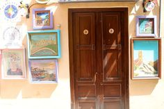 Paitings works well also outside...Monreale, Sicily
