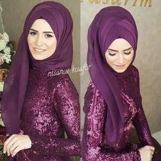 What are the brides of Mashallah - Style Evening Dresses Pakistani Bridal Makeup, Bridal Hijab, Hijab Bride, Girl Hijab, Indian Bridal, Wedding Hijab Styles, Pakistani Wedding Dresses, Pashmina Hijab Tutorial, Simple Hijab