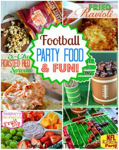 Football Party Food and Fun!! | MomOnTimeout.com #football #food #recipe