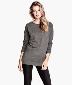 Oversize gray sweatshirt, wear it like a dress if it's just a bit longer. H&M