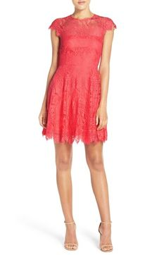 BB Dakota 'Rhianna' Illusion Yoke Lace Fit & Flare Dress (Nordstrom Exclusive) available at #Nordstrom