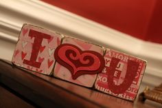 Mod Podge V-day Blocks